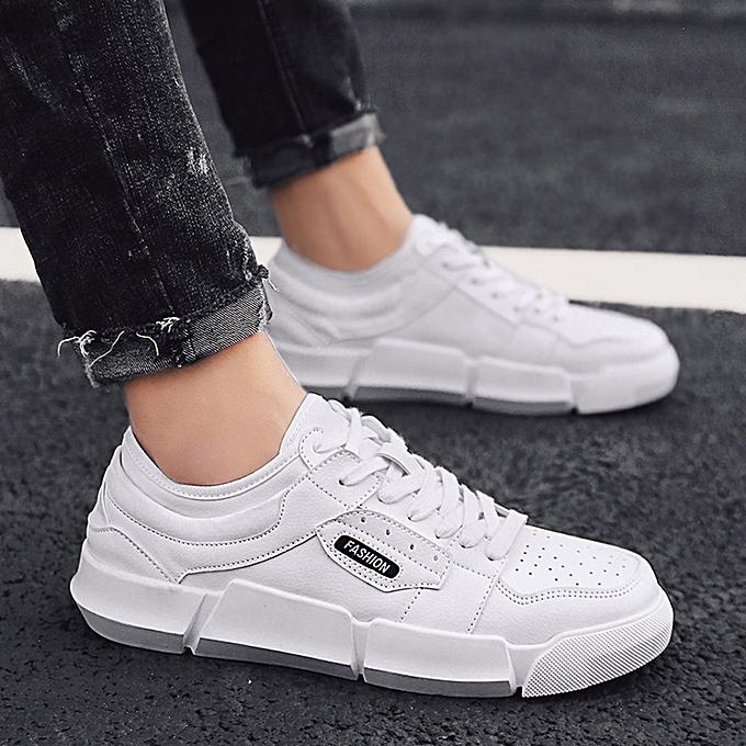 Fashion Hiamok Men Casual chaussures Breathable Sport Lace-up  Non-slip Round Toe Platform baskets à prix pas cher