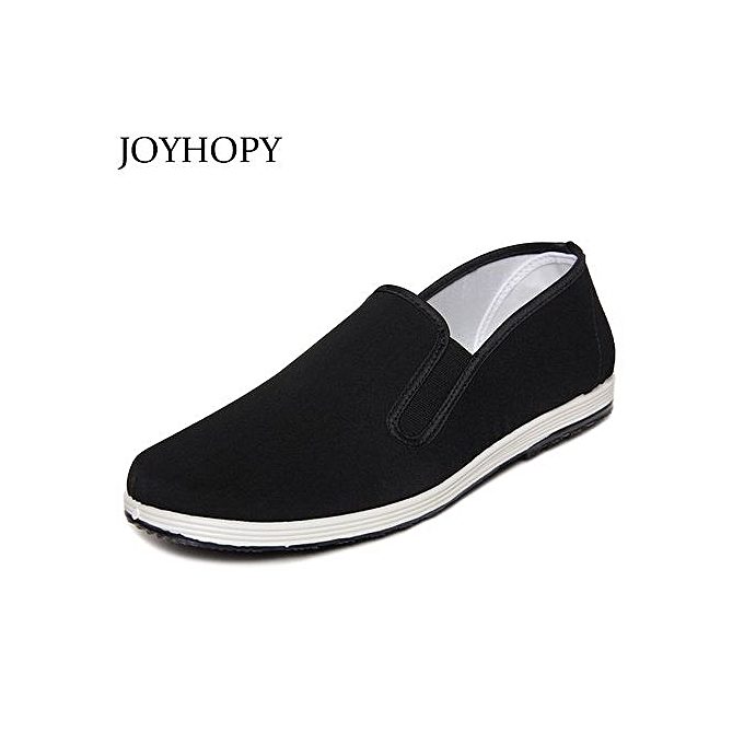 Fashion noir Cloth chaussures Men Round Mouth Loafers Casual Cotton Cloth chaussures Male Kung Fu chaussures Fashion Man Flats à prix pas cher    Jumia Maroc