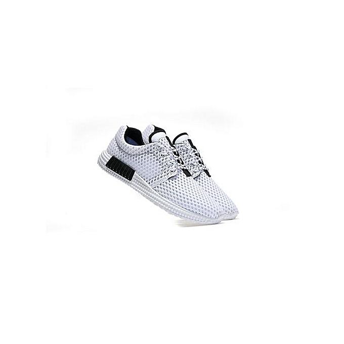 Fashion    Fashion Breathable Sport Shoes Daily Flat Shoes-White à prix pas cher  | Jumia Maroc fbd19c