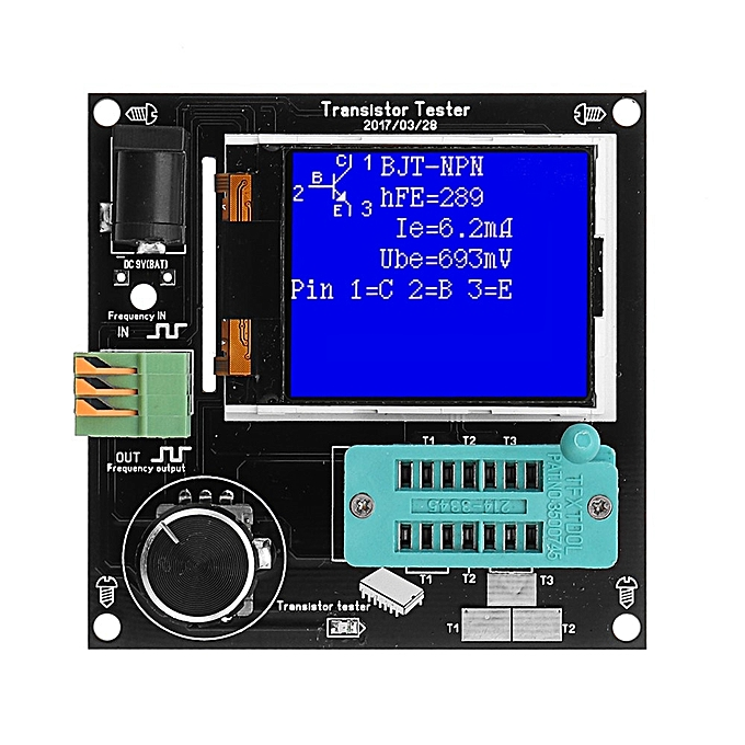 UNIVERSAL 9-12V DC Simple Transistor Tester Frequency Meter 160x128 LCD PWM Square Wave Generator à prix pas cher