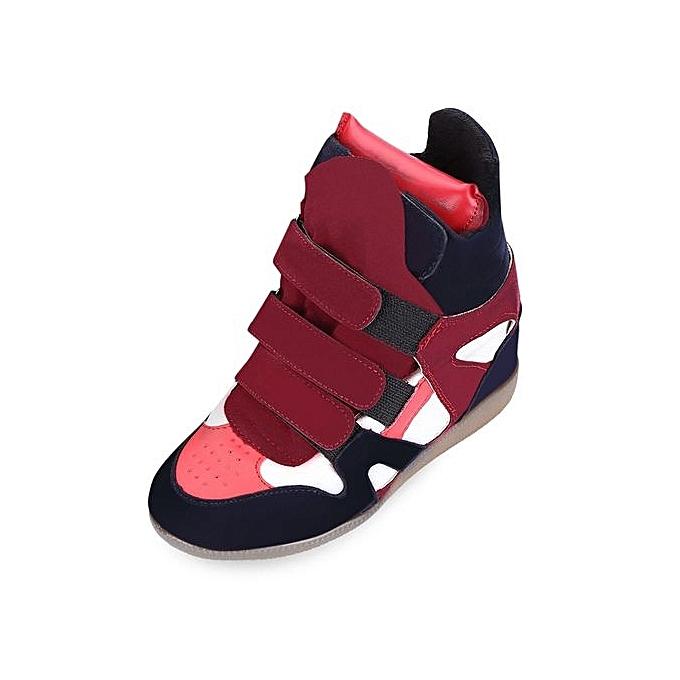 Fashion Stylish Dunk Patchwork Color Block Magic Tape Dunk Stylish High Shoes For   à prix pas cher  | Black Friday 2018 | Jumia Maroc f8d0e0