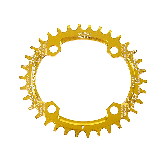 GENERAL quanxinhshang  104BCD 32T Ultralight Alloy Bike Bicycle Chainring Oval Round Chainwheel YE à prix pas cher
