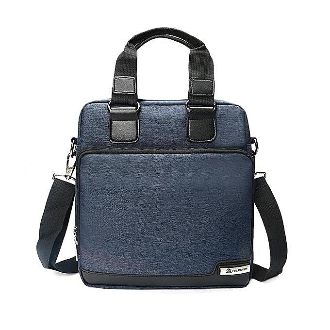 UNIVERSAL Men Leisure Shoulder Bag Brief Messenger's Bag Business Crossbody Bag  bleu à prix pas cher
