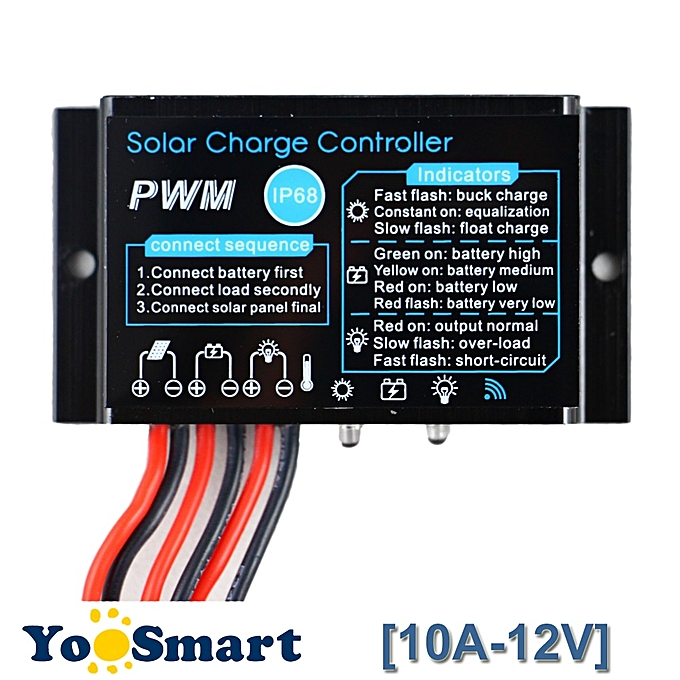 Other PWM 10A Solar Charge Controller 12V Waterproof IP68 Solar Panel Battery Charge Controller Outdoor Use For Solar PV System à prix pas cher