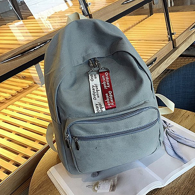Fashion Wohommes Fashion Canvas Solid School Bags Travel Backpack Bag GY à prix pas cher