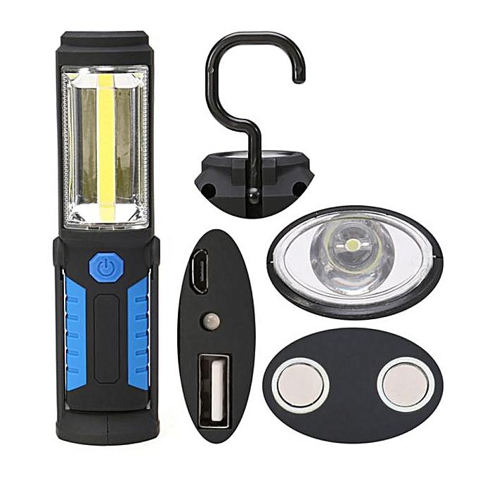 GENERAL quanxinhshang USB Torch Multi Light Bright LED Lamp Torch Magnetic Base Flashlight à prix pas cher