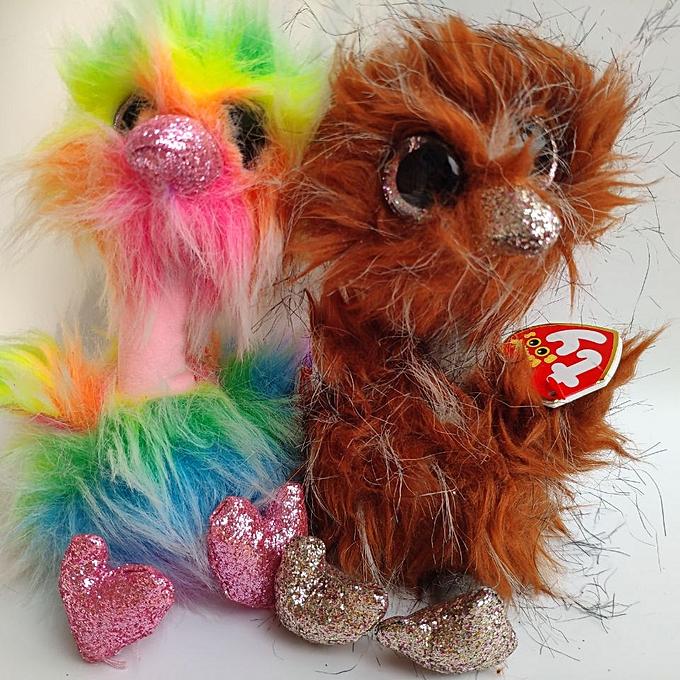 Autre asha  ostrich orson heart tag label TY BEANIE BOOS collection 1PC 15CM Plush Toys Stuffed animals EnfantS soft toy(orson) à prix pas cher