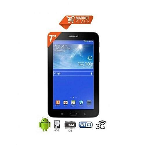 galaxy tab 3 lite t116 7 wifi 3g t l phone 8gb quad core android noir achat. Black Bedroom Furniture Sets. Home Design Ideas