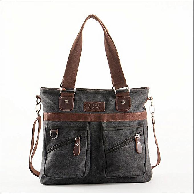 Other BLD Brand Vintage Hommes Messenger sacs Male Affaires toile Laptop sac Hommes's Shoulder Tote voyage sac mode Briefcase(noir) à prix pas cher