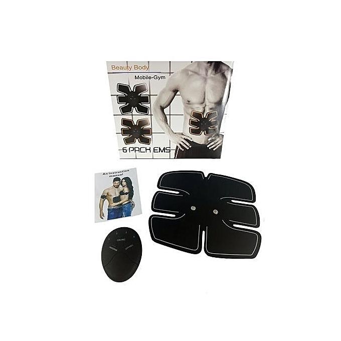 g n rique mobile gym pack 6 ems stimulateur musculaire professionnelle ceinture lectrique home. Black Bedroom Furniture Sets. Home Design Ideas