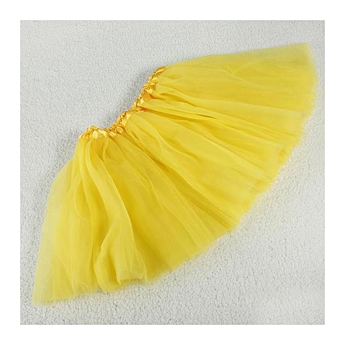 UNIVERSAL Kids Girls 3 Layer Tutu Ballet Dance Dress Skirt Tulle Full Pettiskirt Costume à prix pas cher