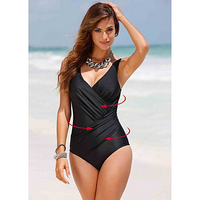 Autre New Swimsuit femmes Taille Swimwear Retro Vintage Bathing Suits Beachwear Print Swim Wear 4XL(BL) à prix pas cher
