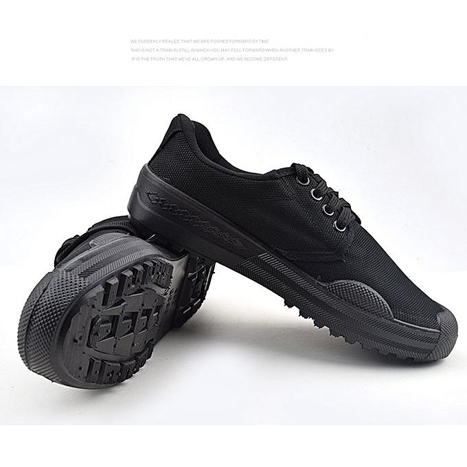 Fashion Men's rubber chaussures outdoor work non-slip low-top rubber chaussures - noir à prix pas cher    Jumia Maroc