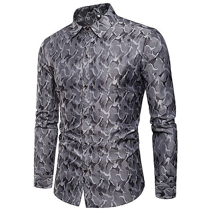 Other Camouflage Collar Men's Brighten Couleur Shirt à prix pas cher