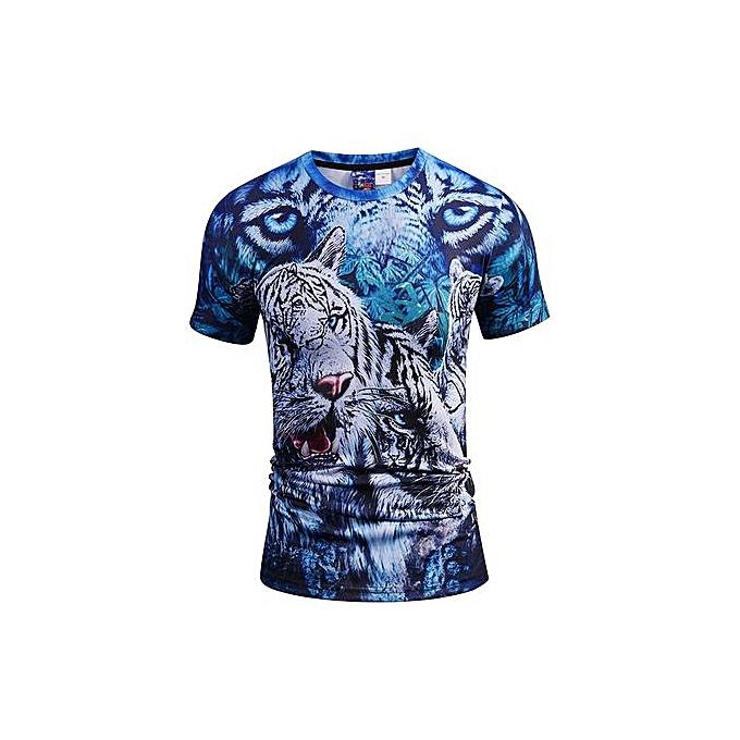AFankara Mens Tee Shirts-Multi à prix pas cher
