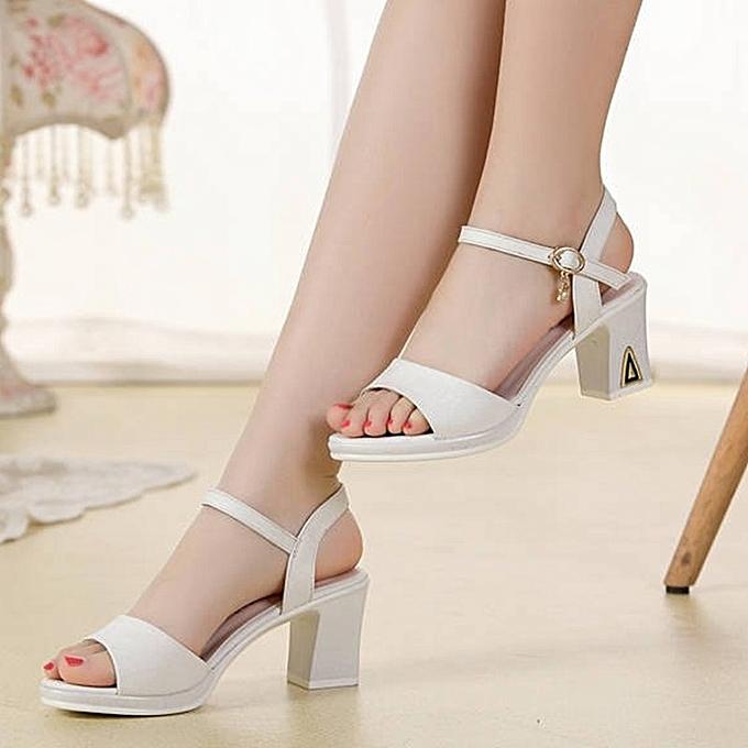 Other Wohommes Casual Dress Heels Light Open Toe Sandals-blanc. à prix pas cher    Jumia Maroc