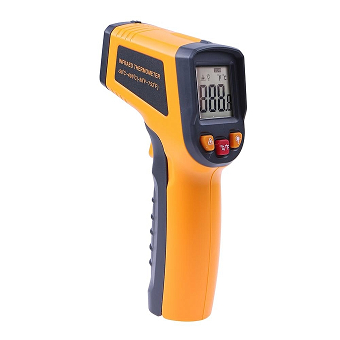 Other Non Contact LCD IR Infrarouge Digital Thermometer (jaune) MQSHOP à prix pas cher