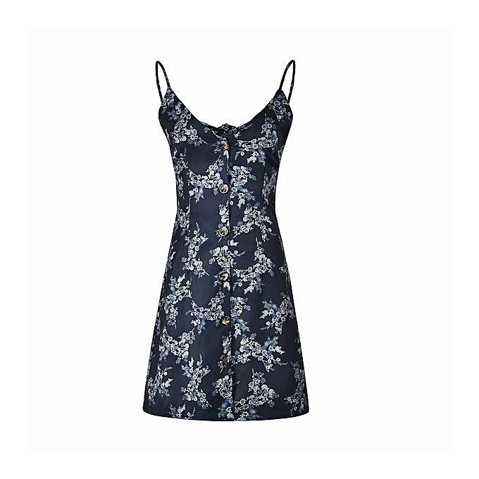 OEM Refined Fashion printed sling dress backless straps bow beach skirt-noir à prix pas cher