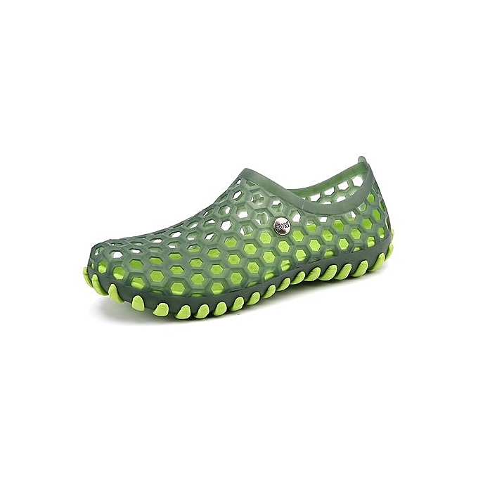 OEM nouveau style Super grand Taille Hommes's sandals Diving imperméable hole chaussures été plage slippers -vert à prix pas cher