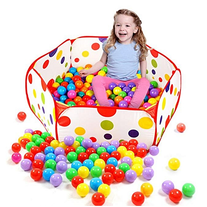 nouveauorldline Pop Up Hexagon Polka Dot Enfants Ball Play Pool Tent voiturery Tote Jouets -rouge à prix pas cher