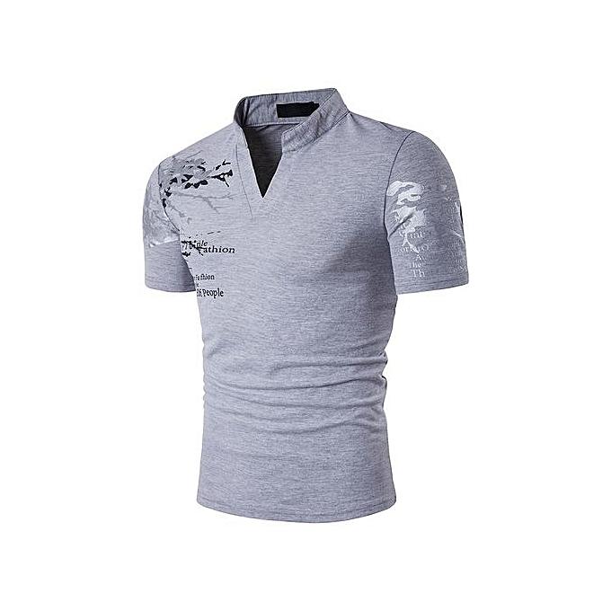 AFankara Men Polos Shirts - gris à prix pas cher