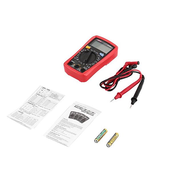 Allwin L'unité d'un multimètre numérique DC AC Volt Amp Diode Ohms Multicontrol AmmeterUT33B+ gris &rouge à prix pas cher