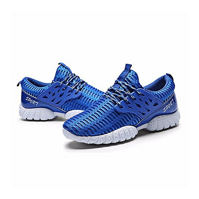 mode Hommes's Athletic paniers Trainers FonctionneHommest Gym Tennis en marchant Décontracté Sport chaussures bleu-EU à prix pas cher