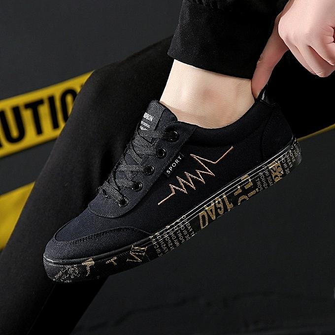 Other nouveau Spbague and Autumn Hommes Leisure Flat toile chaussures-noir or à prix pas cher