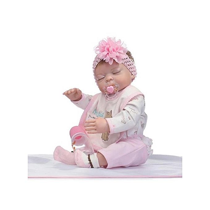 Generic DM 50cm Silicone Vinyl   Girl Doll nouveauborn Toys Reborn-Couleurful à prix pas cher