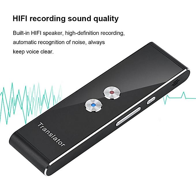 Other T8 Voice Translator Portable  2.4G Smart Pocket Interpreter Intelligent Real Time Speech 40 Multilingual Translator ASQOA à prix pas cher