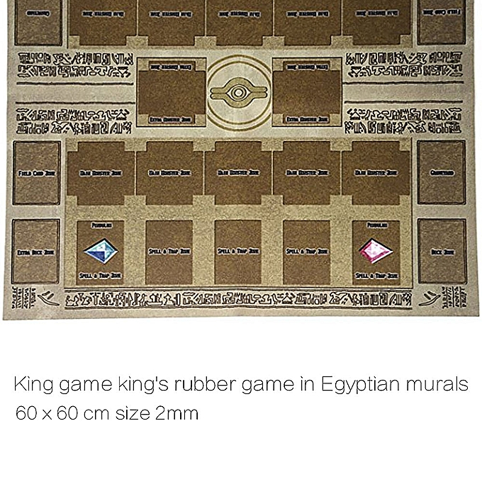 Autre Card Play 6060cm Rubber Play Mat Egypt Mural Style Competition Pad for Yu-gi-oh Card à prix pas cher