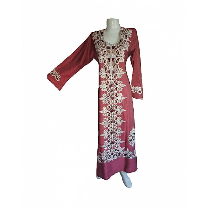 Generic belle robe longue broder à prix pas cher