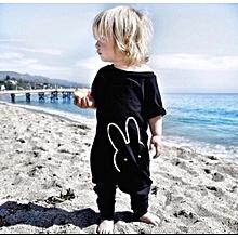 1ca2a5879bc39 Bébé Garçons Barboteuse Filles Enfants Vêtements Nouveau-Né de Bande  Dessinée Noir Bébé Corps Costume