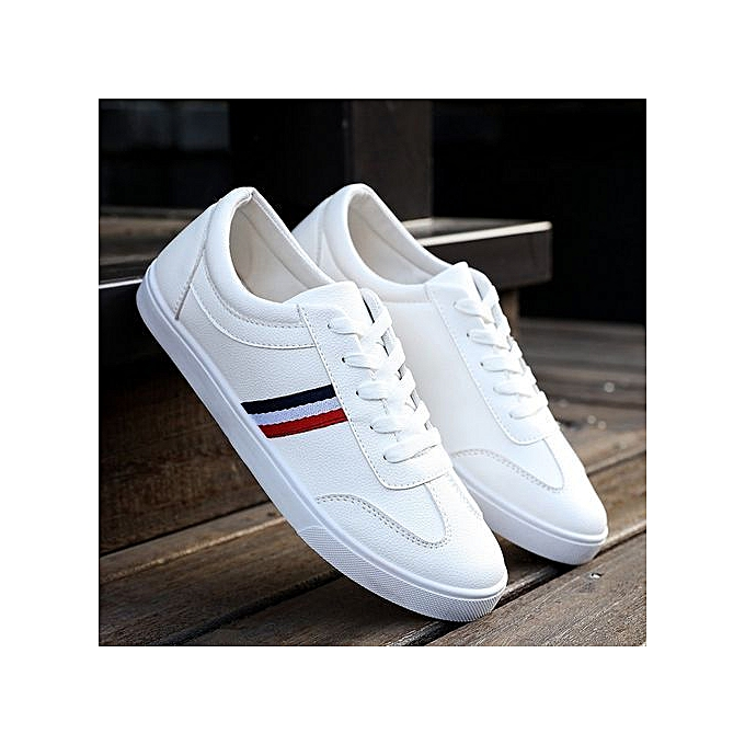 OEM New breathable blanc chaussures casual hommes chaussures Korean student chaussures low to help chaussures-blanc à prix pas cher    Jumia Maroc