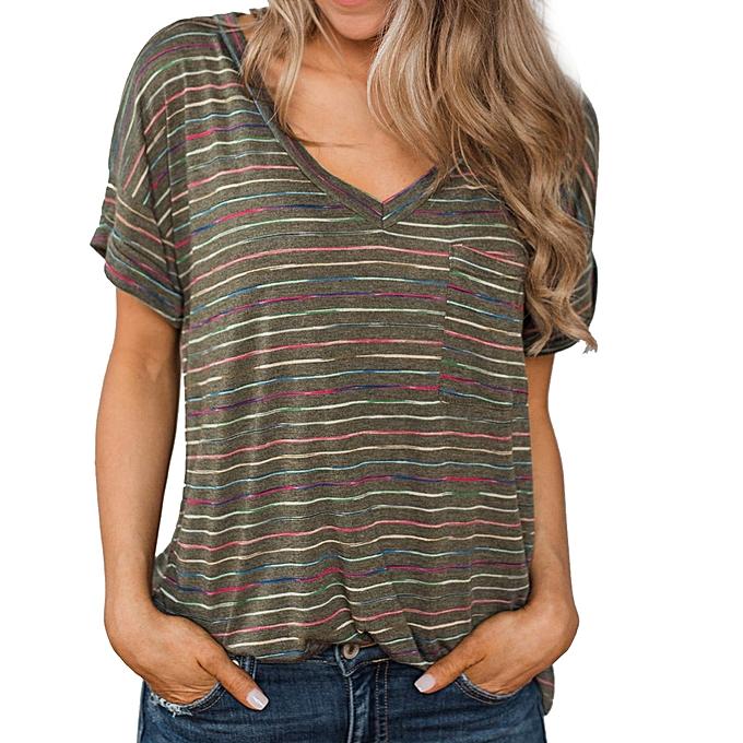 mode Meibaol store femmes& 039;s mode Knotted V-Neck Flare Sleeve Strap manche courte Top à prix pas cher