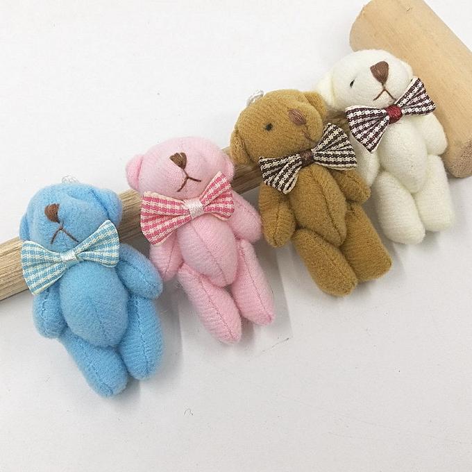 Autre 3pc Peu Mini Cute 4Couleurs 6CM Joint Bear Stuffed Plush TOY DOLL Bear Plush TOY GarHommests Hair Decor Plush DOLL Accessories TOY(Coffee) à prix pas cher