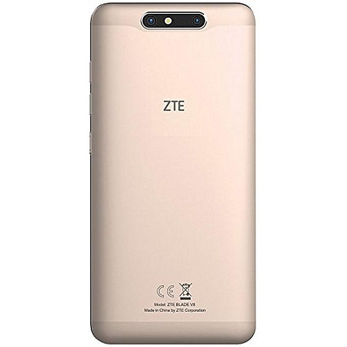 """ZTE Blade V8 - 5.2"""" - 4G/Dual SIM - 32Go - 3Go - Android - Gold"""