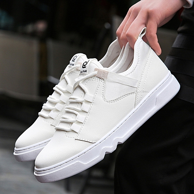 OEM New blanc chaussures hommes casual chaussures hommes chaussures Korean sports chaussures hommes trend chaussures-blanc à prix pas cher