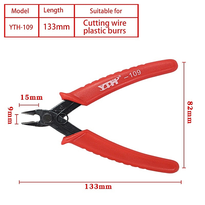 Other Wire Cutter Diagonal Cut Micro Flush Side Pliers cutting Nippers Thin blade Cutting Model Toy side cutting pliers Snips stripper(YTH-109) à prix pas cher