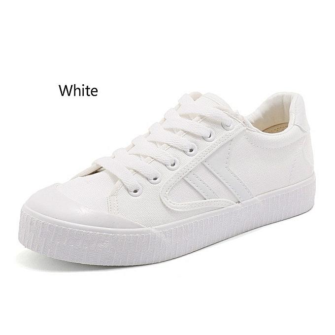 Autre Stylish Lacing Korean Lacing Stylish Canvas Shoes Female Flat Shoes à prix pas cher    Jumia Maroc f6749e