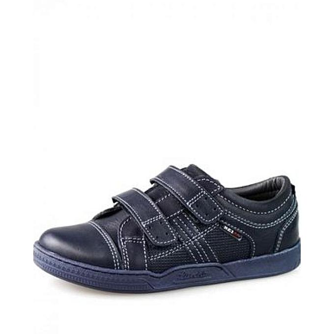 258301190295d MAGAZTII Chaussures garçon en cuir - Bleu. à prix pas cher