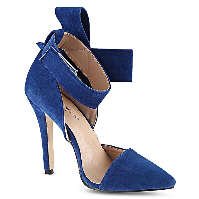 GUMANDUO Elegant   High Heel Heel Heel Shoes Over  Bowknot Shoes-BLUE à prix pas cher    Jumia Maroc 69fd19