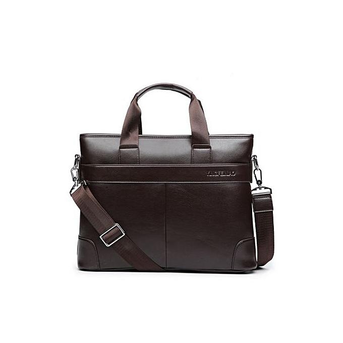 Other Brand Vintage Man Briefcases Hommes's Handsac cuir Messenger sac Hommes's cuir Affaires Shoulder sac Laptop sac portfolio LN370Z(marron) à prix pas cher