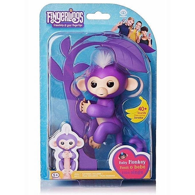Sunshine Cute Finger Toy   Monkey Electronic Interactive Toy Robot Pet Enfants Gift-violet à prix pas cher