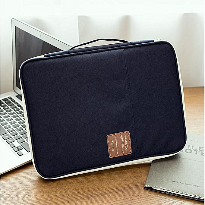 Other Laptop Sleeve Case 11,13 inch Computer Bag Notebook Tablet waterproof nylon document bag a4 document s folder cases hommeager 065(Navy) à prix pas cher