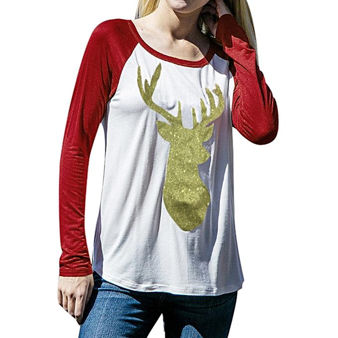 mode Meibaol store mode femmes Décontracté manche longue Print Sweatshirt hauts Shirt S à prix pas cher