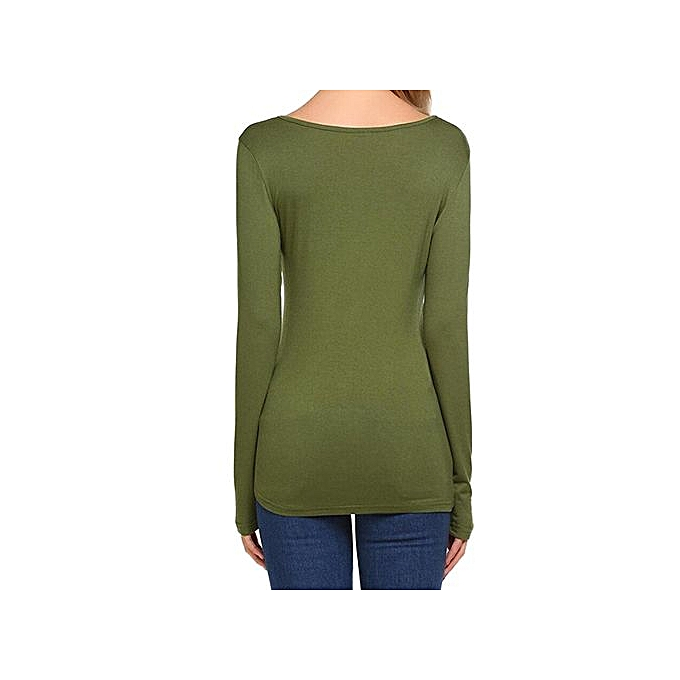 Fashion Hiamok Fashion T Shirt femmes Cotton Long Sleeve Tshirt à prix pas cher