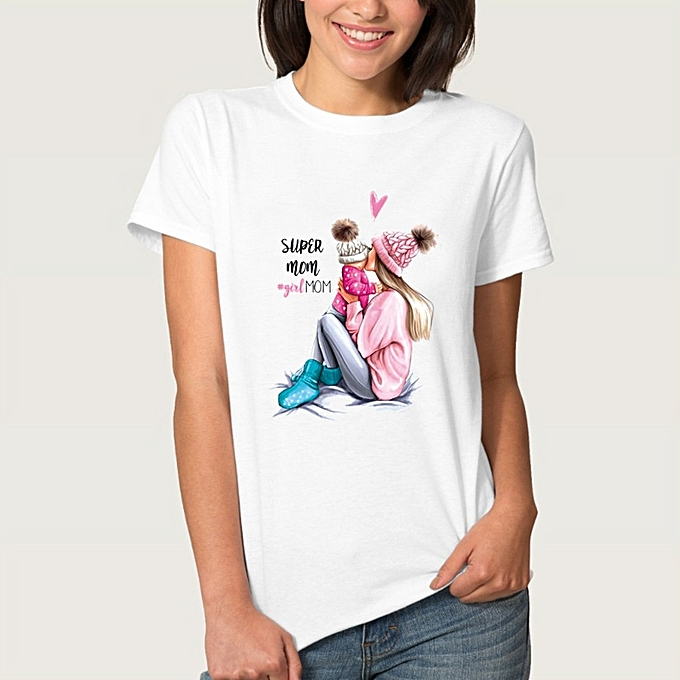 Other New Stylish femmes Leisure Comfortable Vogue Tops Mother's Day T Shirt -3 à prix pas cher