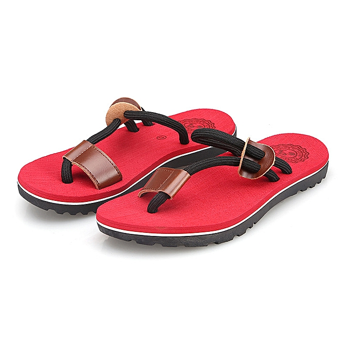 Fashion Men's Slippers Non-slip Creative Sandals - rouge à prix pas cher    Jumia Maroc