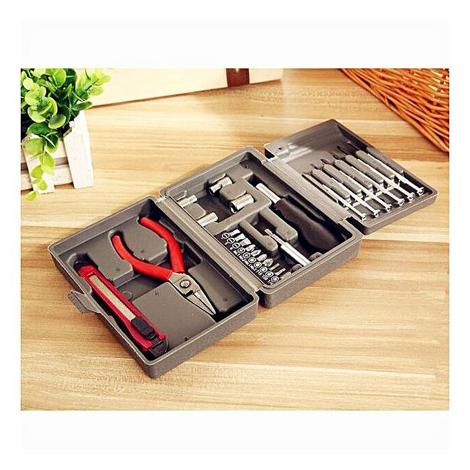 Ageneral Hiamok 24PC Home Multi-function Toolbox Hardware Portfolio Tool Kit Boxed Square Tool à prix pas cher